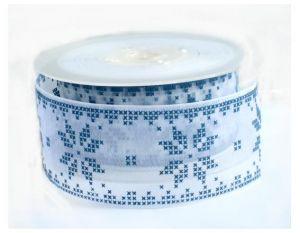 Nordic sneeuwvlok blauw 2 meter op kaartje